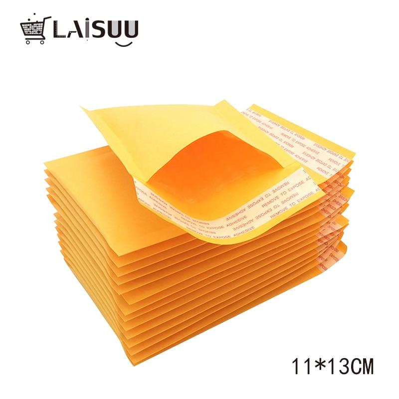 10pcs 110*130mm Yellow Kraft Paper Envelope Bubble Bag Foam Bag Thickened Mobile Phone Shell Packaging Envelope Bubble Bag