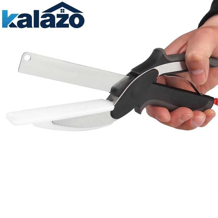 Neue Clevere Cutter 2-1 Lebensmittel Chopper Scissor Ersetzen Küche Messer Schneiden Bord Multi-funktion Küche Werkzeug