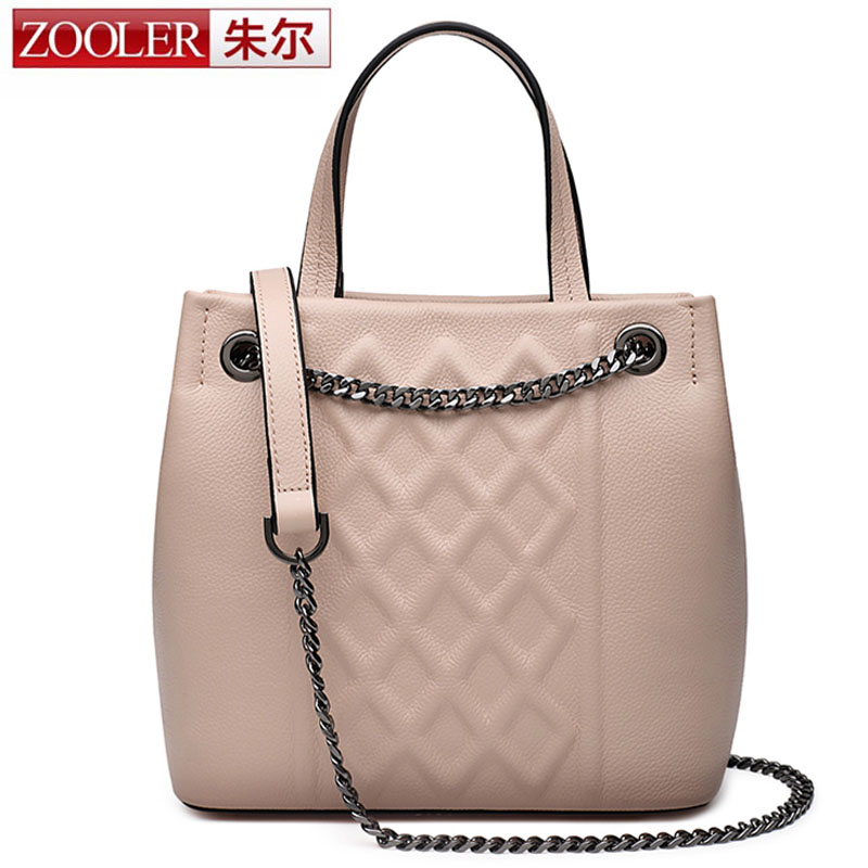 ZOOLER Genuine Leather Genuine Real Cowhide Small Handbags High Quality Brand Women Plaid Shoulder Bags Chain Tote Crossbody Bag zooler anti theft women bags handbag famous brand 2017 high quality women cowhide shoulder messenger bag sweet tote bag bolsa