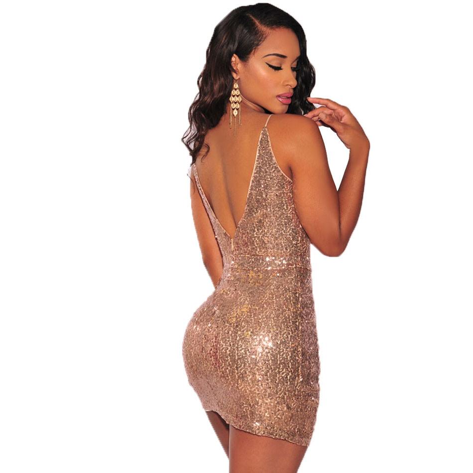 SEBOWEL 2018 Sexy Sleeveless Club Glistening Short Party Dress ... 8cf0dfc153ee