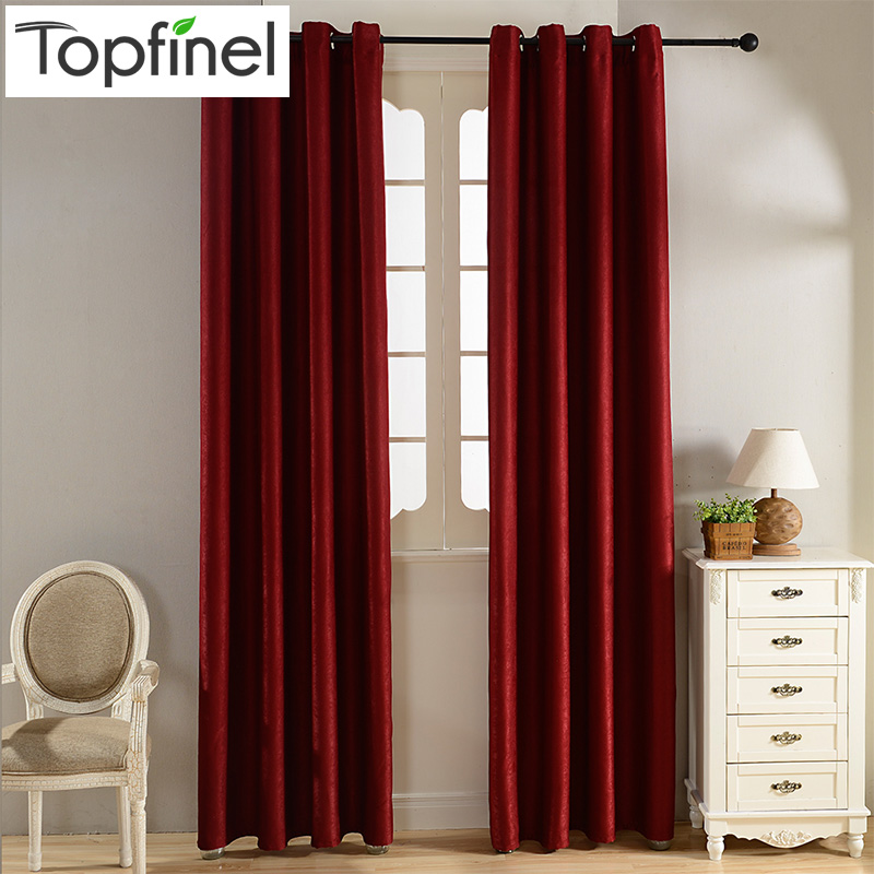 Plain Velvet Cotton Curtains for Living Room Bedroom Door Window - Home Textile