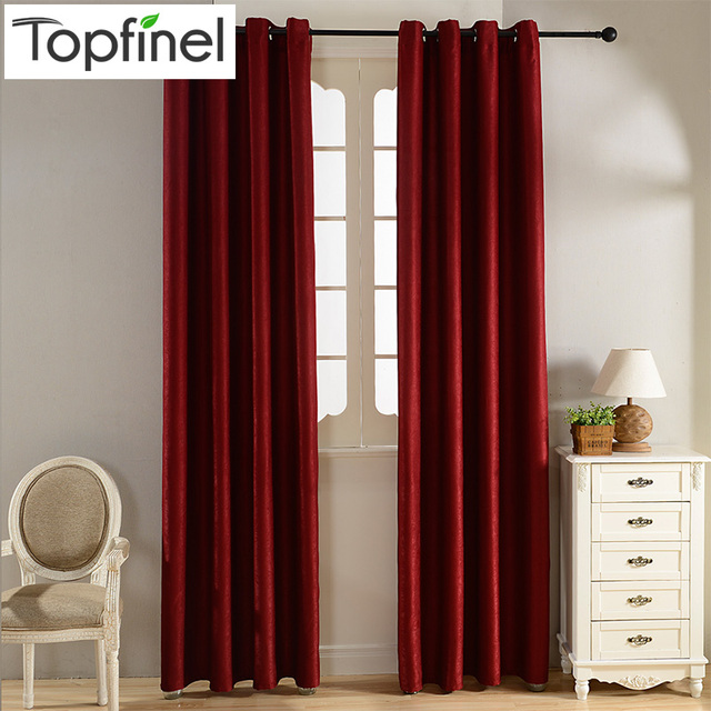 Plain Velvet Cotton Curtains For Living Room Bedroom Door Window Panel Blackout Curtain D Burgundy Grey