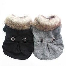 Костюм для мальчика, собаки, кошки, пальто с капюшоном, пальто для щенка, куртка с меховым воротником, ветровка, одежда Apperal, 5 размеров