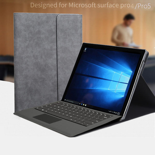 Funda para ordenador portátil para microsoft surface Pro 5 funda para ordenador portátil para microsoft surface pro 4 Pro6 12,3 ''soporte plegable + películas
