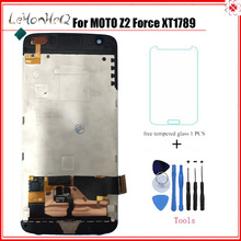 Test LCD For Motorola MOTO Z2 Force XT1789 LCD Display Touch screen Digitizer Assembly With Frame brand 2015 new black white for motorola moto g3 g 3rd gen lcd display screen with touch digitizer complete 1 piece free hk post
