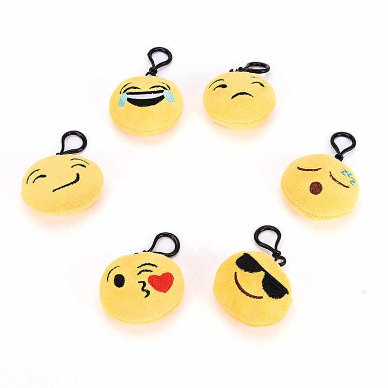 ... JETTING 1Pc Emoji Keychain Plush Keyring Emoticon Key Ring Plush Face  Emoji Key Chain Poop keychain ... 6a3251286