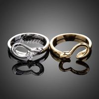 2013 Comfort Fit Fashion 18K Gold Plated Rhinestone Jewelry Couple Rings XR061