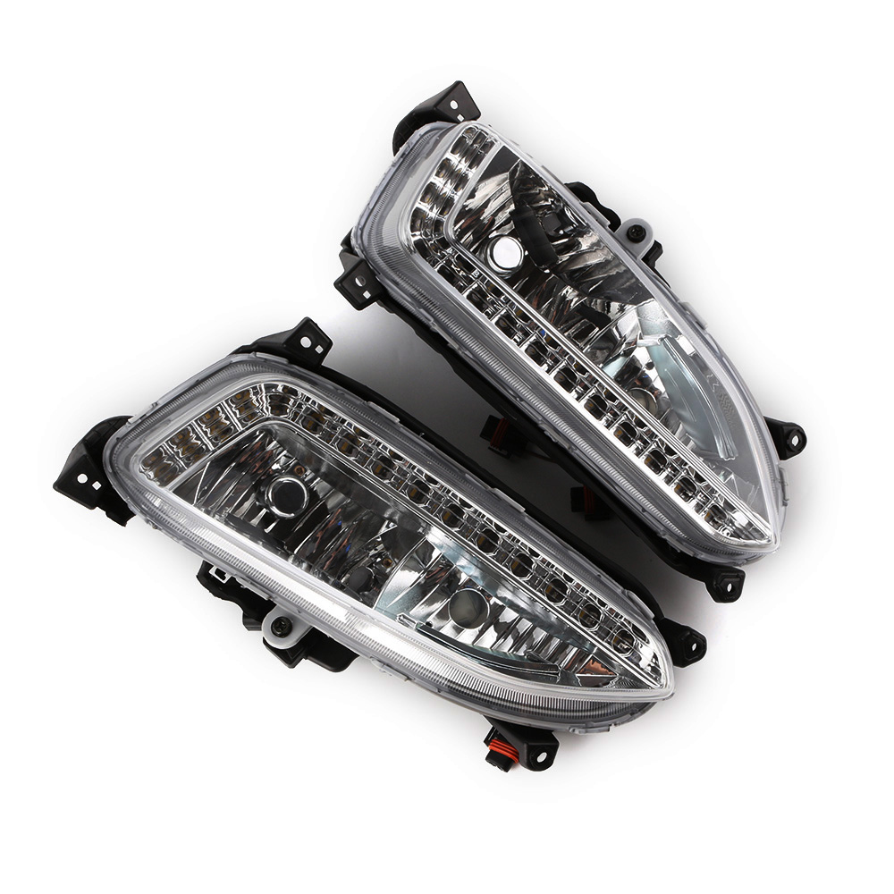цена на Novsight Auto Car Daytime Running Lights LED Daylight DRL Driving Fog Lamp for Hyundai Grand Santa Fe Ix45 2013 D20
