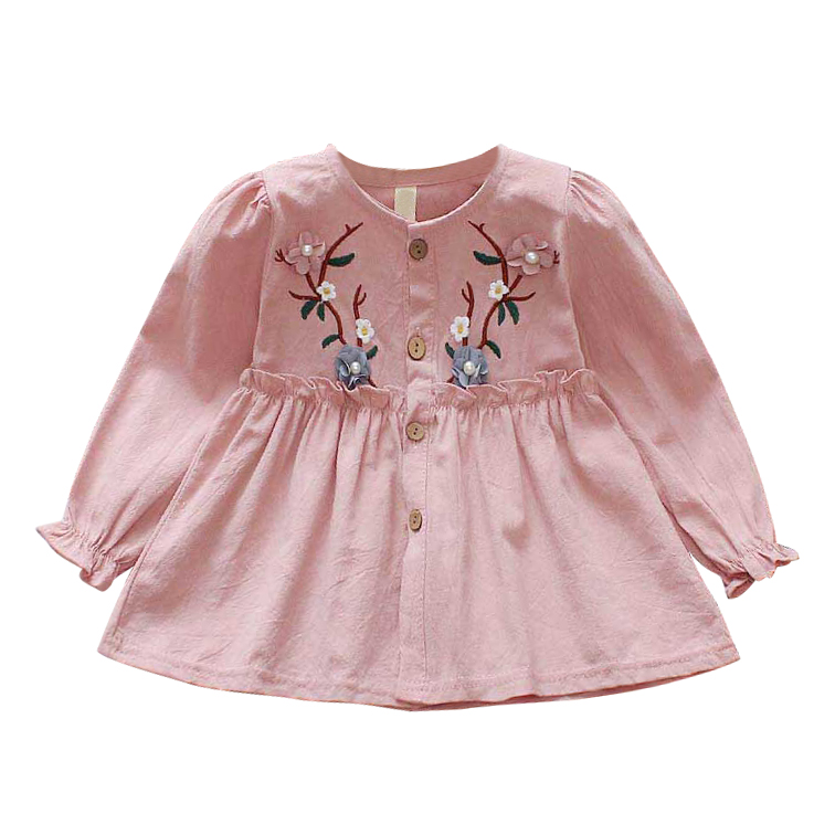Autumn Princess Dress For Girl Embroidery Infant Clothes Long Sleeve Lovely Kids Clothing Baby Girls Cotton Dresses 1-4YAutumn Princess Dress For Girl Embroidery Infant Clothes Long Sleeve Lovely Kids Clothing Baby Girls Cotton Dresses 1-4Y