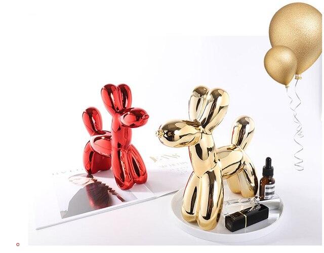 Nordic Ceramic Animal Balloon Dog Figurine