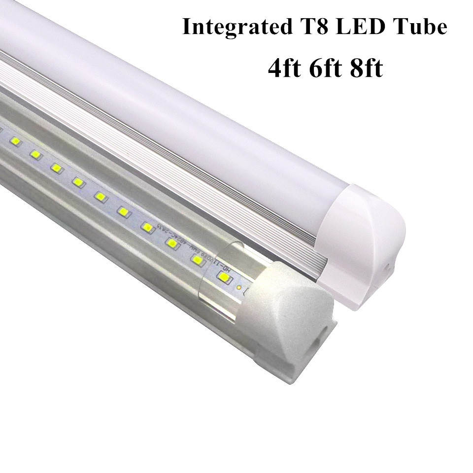 integrated t8 led tubes bulbs 1200mm 4ft led fluorescent. Black Bedroom Furniture Sets. Home Design Ideas