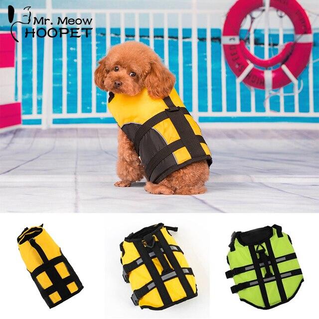 Hoopet Pet спасательный жилет для собаки, одежда для безопасности, спасательный жилет с воротником, спасательный жилет для собак, одежда для собак, летний купальник