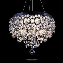 Lustre Lámpara Colgante de Cristal moderno Llevó la Lámpara de Techo Sala de estar Iluminación de La Decoración Fixture Gota Redonda de Luz 110 V-240 V