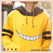 Free Shipping Assassination Classroom Cosplay Korosensei Unisex Hoodie Sweatshirt Coats Jackets Sportswear Zipper Thick Jacket