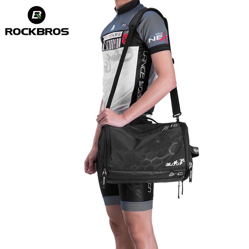 ROCKBROS sac de Sport sacs d'entraînement étanche Fitness sac de Sport en plein air sacs de Triathlon haute capacité sac à dos avec housse de pluie