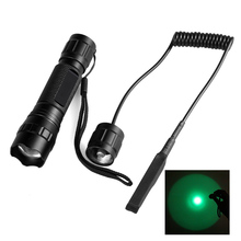 New 501G LG 650 Lumens 395nm 18650 1 Mode Zoomable Waterproof Green Light Outdoor Zoom Spotlight Hunting LED Flashlight
