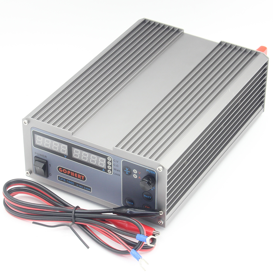 CPS-1660 Updated Version 1000W 0-16V/0-60A,High power Digital Adjustable DC Power Supply CPS1660 220V cps 6011 60v 11a digital adjustable dc power supply laboratory power supply cps6011