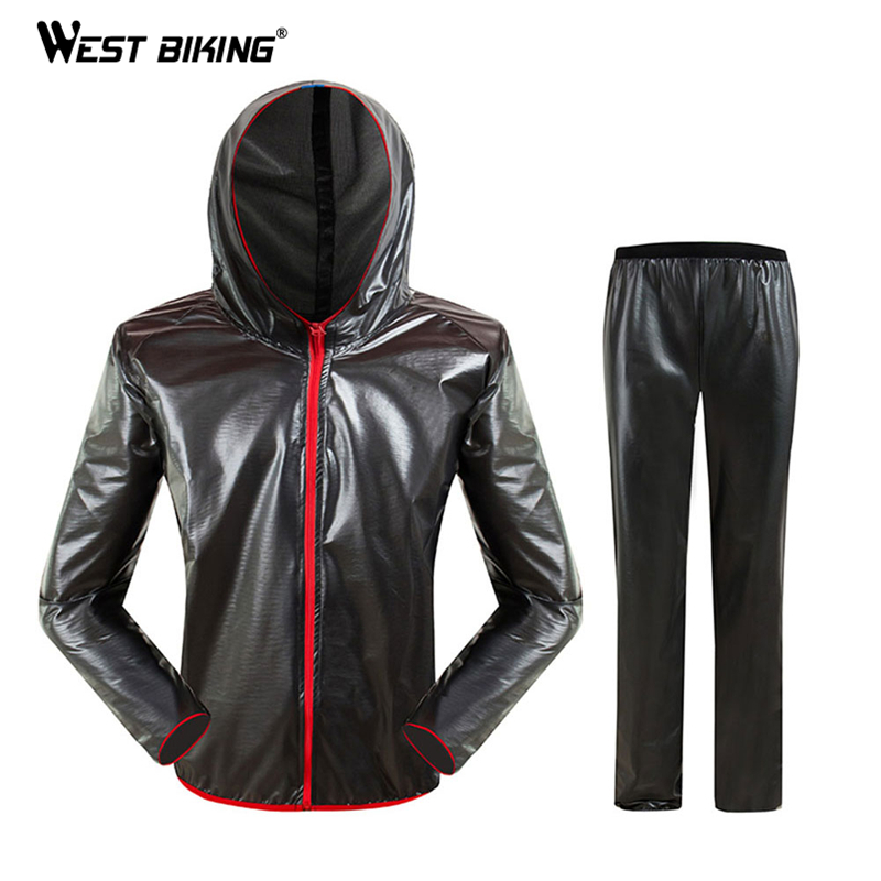 WEST BIKING Waterproof Cycling Raincoat Road MTB Bike Cycling Jersey Raincoat Rain Coat Windproof Ropa Ciclismo Bicycle Clothing in Cycling Jerseys from Sports Entertainment