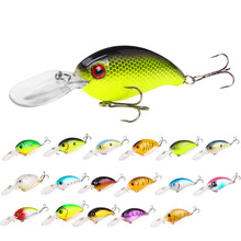 все цены на 1Pcs Minnow Crankbait Wobblers artificial Crank Bait Bass 10cm 14.5g Fishing Lure pike trolling pesca carp Fishing Tackle онлайн