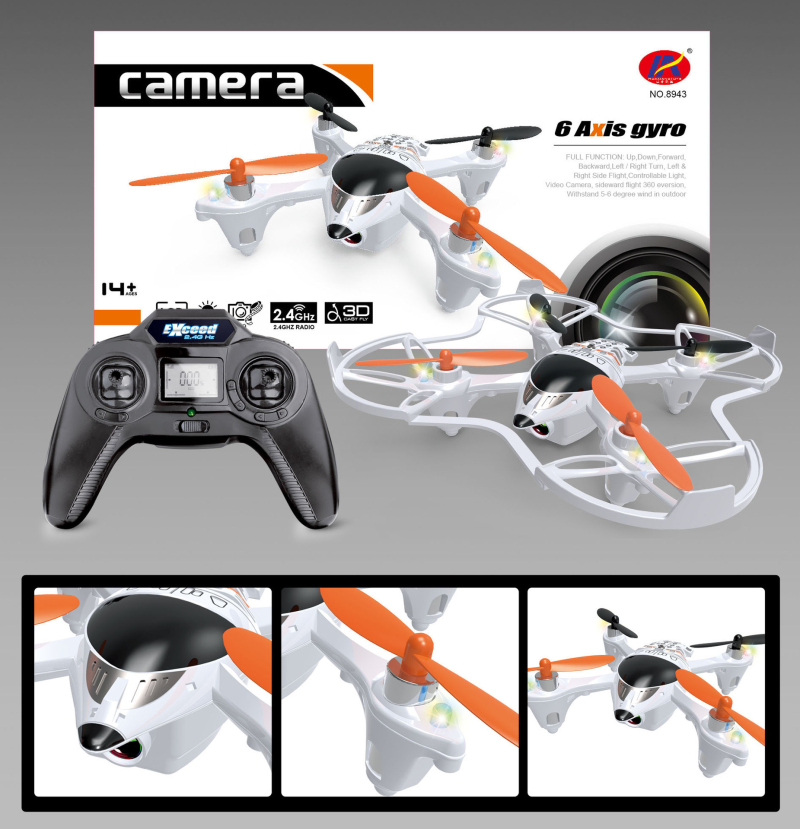 rc drone 8943 2.4G 4CH 6Axis rc drone with camera LCD Display remote control drone rc model rc toys for child best gifts wifi fpv rc drone jxd396 2 4g 6axis 4ch remote control rc ufo rc drones quadcopter with gyro rtf with camera rc toys child gifts