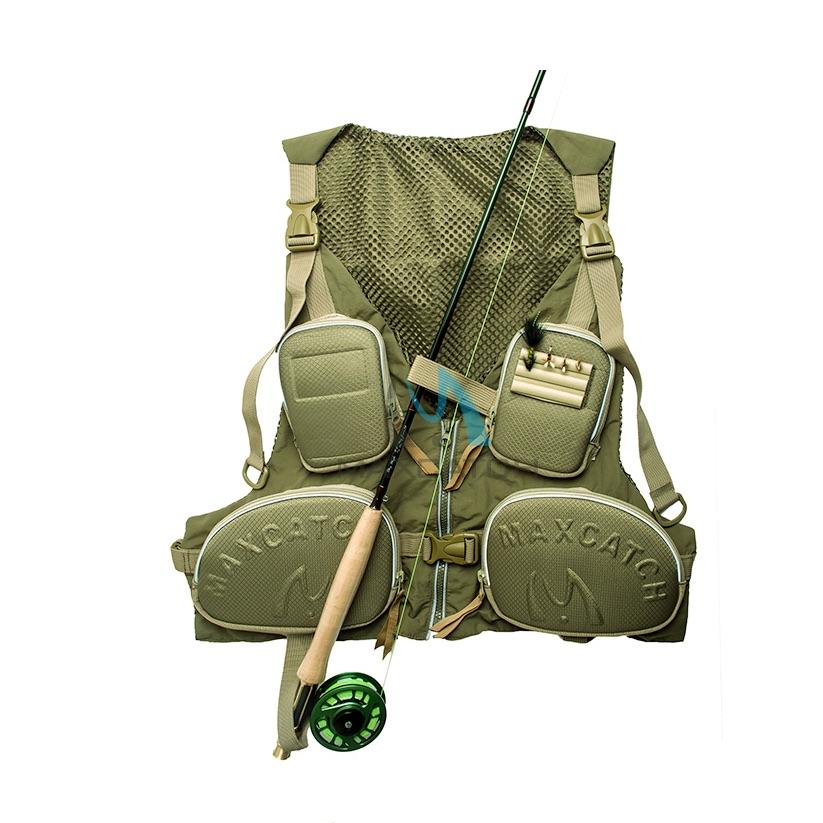 fly fishing Vest Life Jacket Clothes backing shirt backpack equipment  cap materials hat clothing man Short peche Adult scarf kayak suit