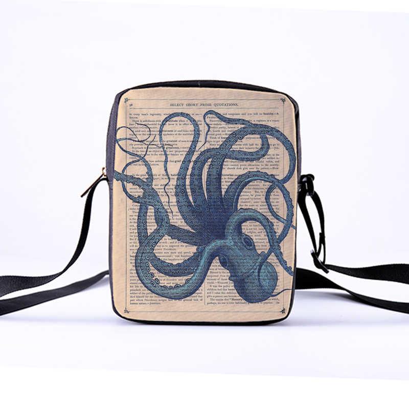 60aa71c2b3 ... CROWDALE DIY Women Crossbody Bags octopus series Printing Canvas bag  for Kid Children Messenger Bag Bolsos ...