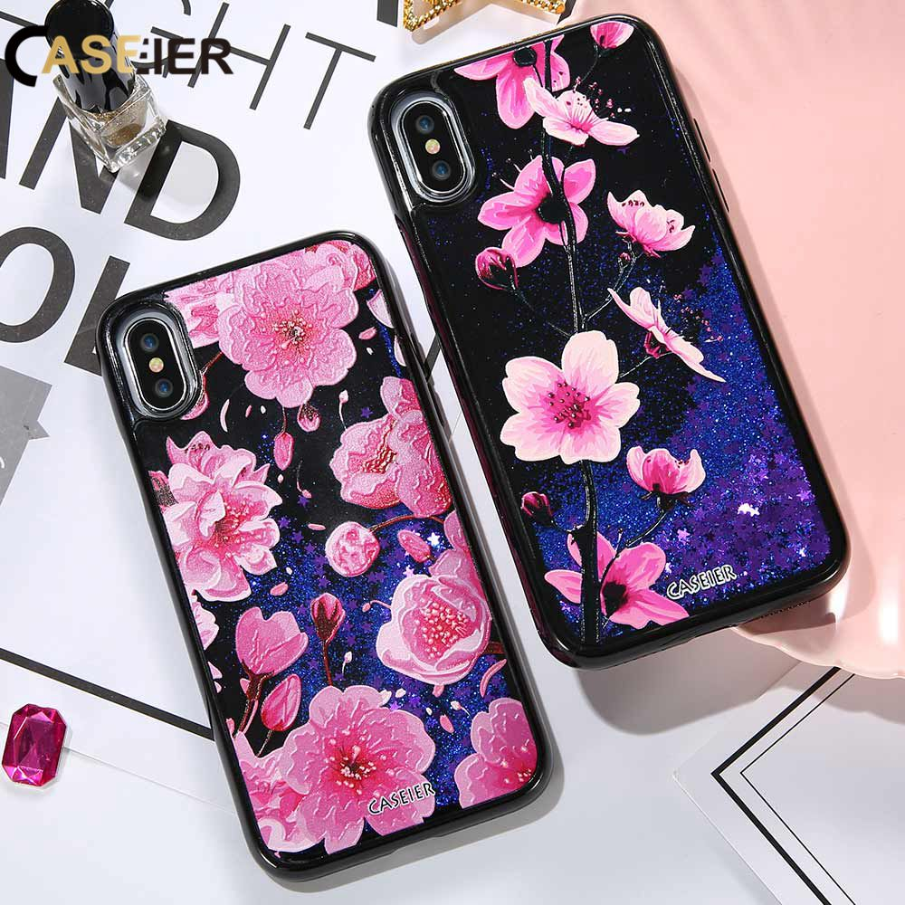 Half-wrapped Case Cellphones & Telecommunications Earnest Caseier For Iphone X 10 Cat Sakura Tree Quicksand Liquid Phone Case For Iphone X 3d Relief Glitter Sand Cases Fashion Cover Capa