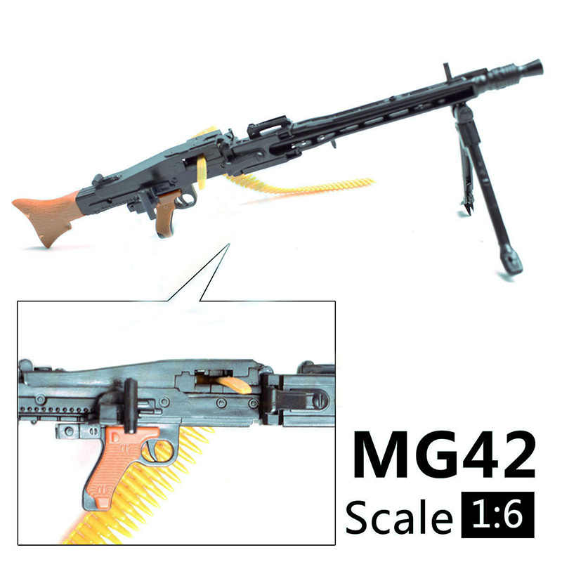 1/6 skala 12 cali Action Figures akcesoria WWII MG42 ciężka maszyna pistolet zabawki 1/100 MG Bandai Gundam akcesoria modele na prezent