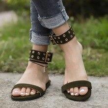 Лучший!  Весенние и летние крупные повседневные женские сандалии с пряжкой Лучший!