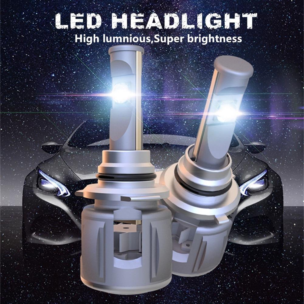 Image 2 - INLONG H7 H4 Car LED Headlight Bulbs H11 Led H1 9005 HB3 9006 HB4  D4S D2S D1S  D3S  X70 Chips 15600LM Headlamp Fog Lights 6000K-in Car Headlight Bulbs(LED) from Automobiles & Motorcycles