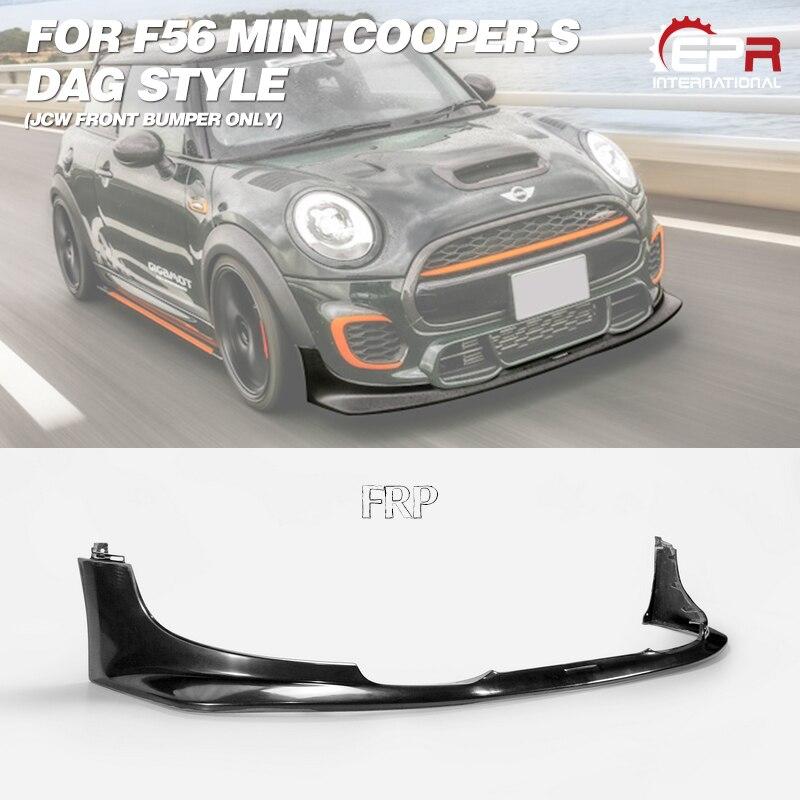 DAG Stil FRP Fiber Glas Front Lip (JCW frontschürze Nur) fiberglas Stoßstange Splitter Drift Spoiler Kit Für F56 Mini Cooper S