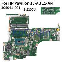 Laptop motherboard Para HP Pavilion 15 KoCoQin AB 15 UM 15Z AB I5 5200U Mainboard 809041 001 809041  601 DAX12AMB6D0 Placa-mãe para notebook     -