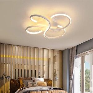 Image 5 - מודרני נברשת תאורה לסלון Luminarine avize ברק דה plafond moderne 90 265V ברק שינה תקרת נברשת
