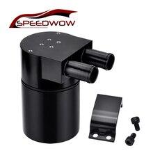 Купить с кэшбэком SPEEDWOW 0.5L Aluminum Alloy Reservior Oil Catch Can Tank for BMW N54 335 Black/Silver