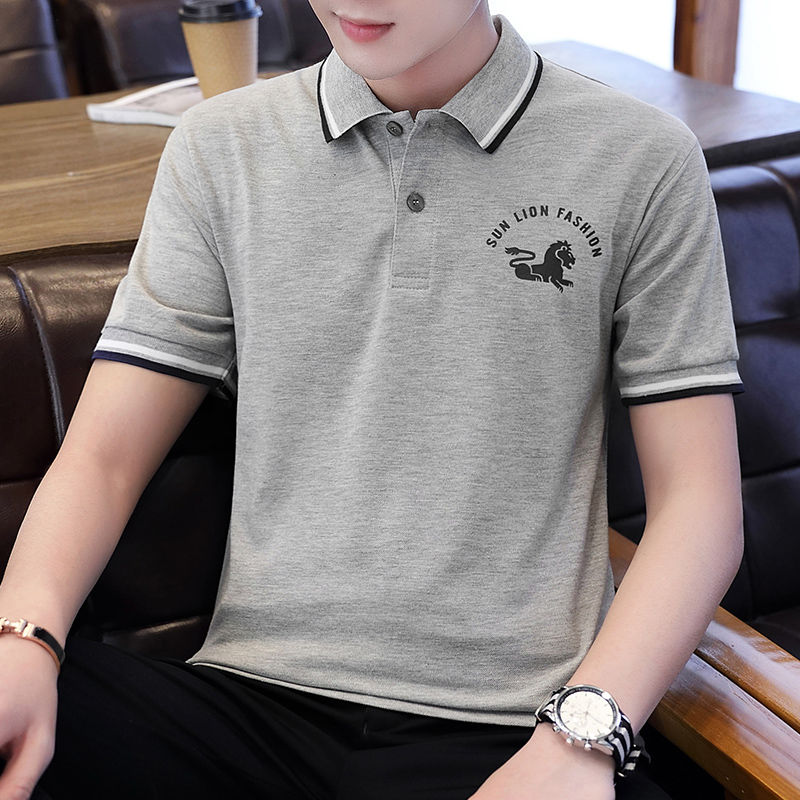 Contrast Color   Polo   Shirts Men 2019 Autumn Brand Clothing Cotton Mens   Polo   Shirt Streetwear Top Tee Shirts Embroidery Golf   Polos