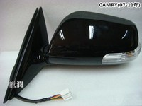 Car Side Rear View Mirror with led turn signal and electric foldable+ heated for Toyota Camry 2007 2011 Wing Mirror