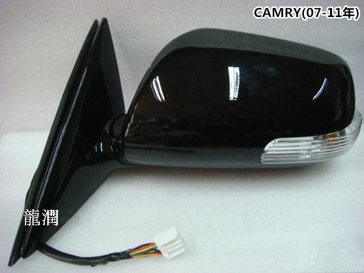 Rétroviseur latéral de voiture avec clignotant led et électrique pliable + chauffé pour Toyota CAMRY ACV40 2007-2011 rétroviseur à aile