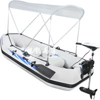 Electric outboard four person fishing boat rubber boat inflatable boat assault boats