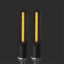 New Flowing LED Motorcycle Turn Signal Indicators Sequential Blinkers Flashers Light Waterproof Lamp Warning