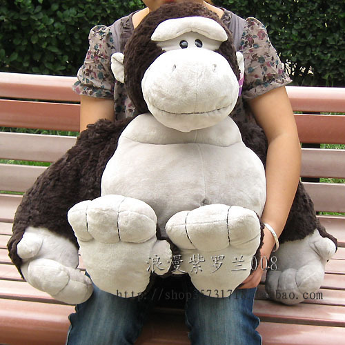 large 80 cm lovely monkey plush toy jungle monkey doll orangutan toy throw pillow Christmas gift w6411 black orangutan 75x85cm chimpanzee plush toy black king kong doll gift w4663