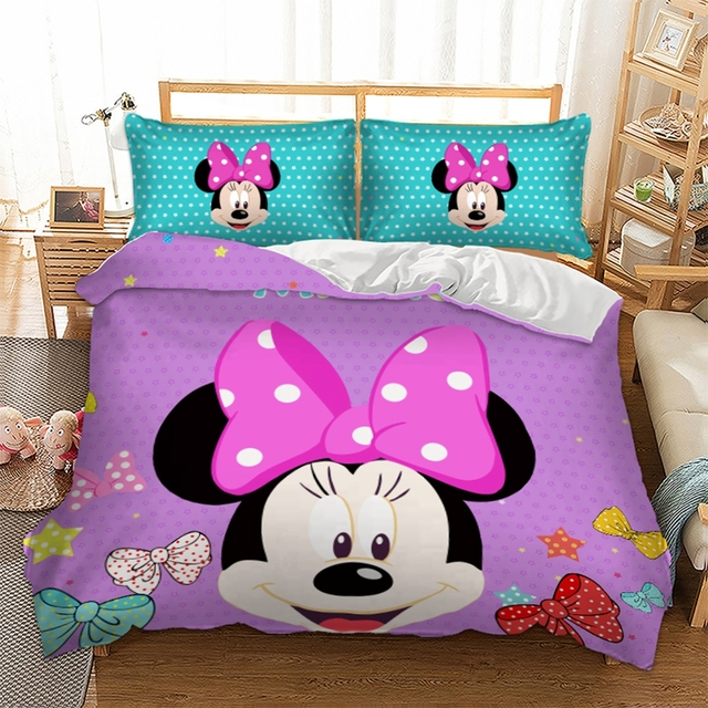 Contemporary Minnie Mouse Bedroom Set Full Size Painting