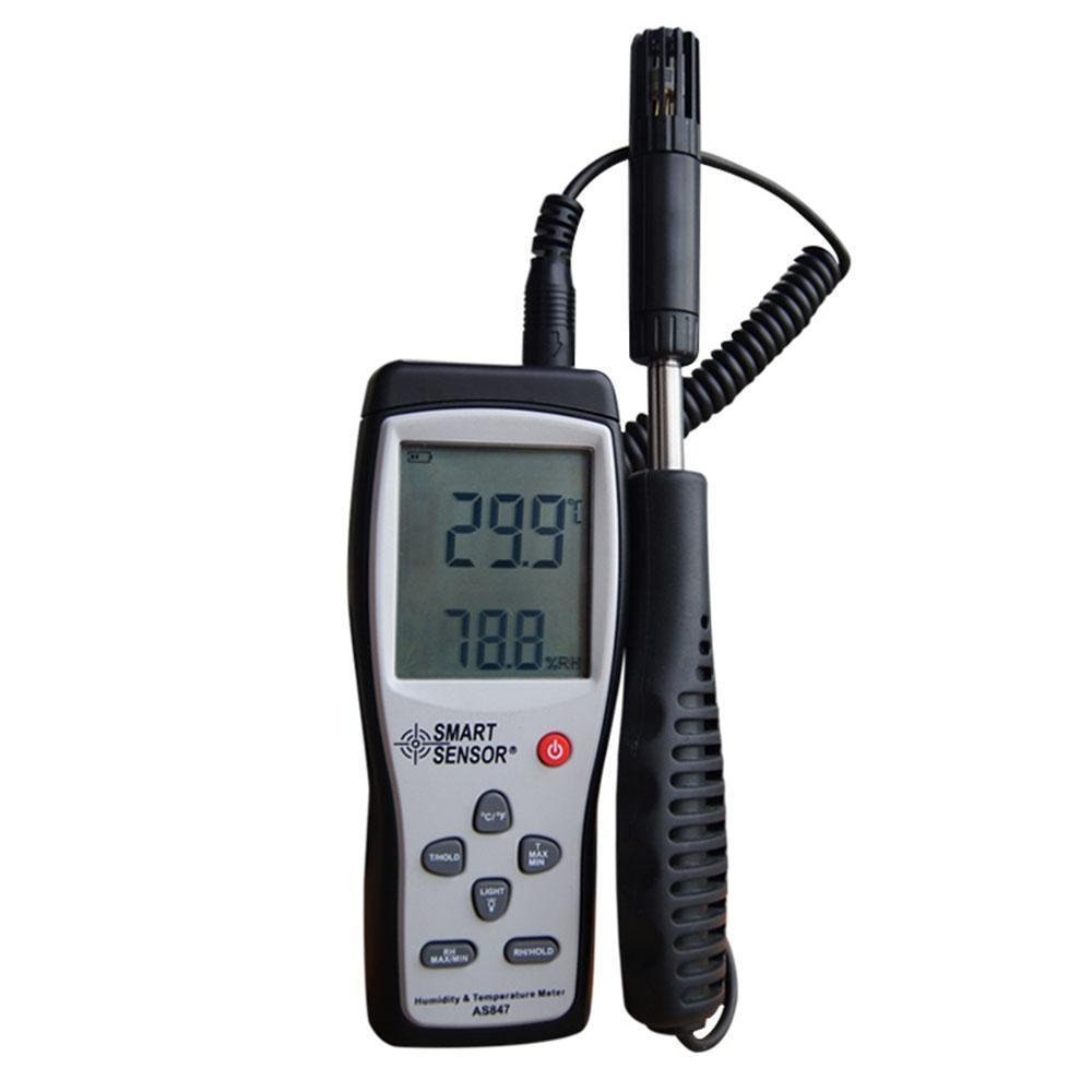 Humidity&Temperature Meter 2in1 K Type Thermocouple Smart Sensor digital indoor air quality carbon dioxide meter temperature rh humidity twa stel display 99 points made in taiwan co2 monitor