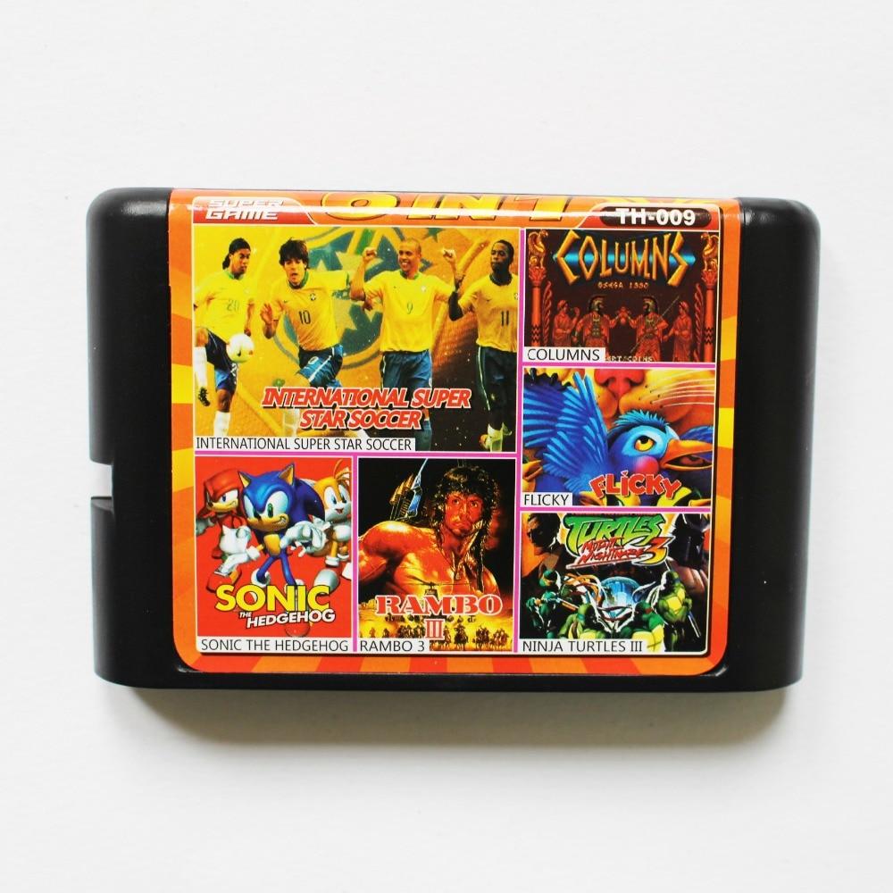 TH 009 8 in 1 game cartridge 16 bit md Multi game card for sega genesis/mega drive