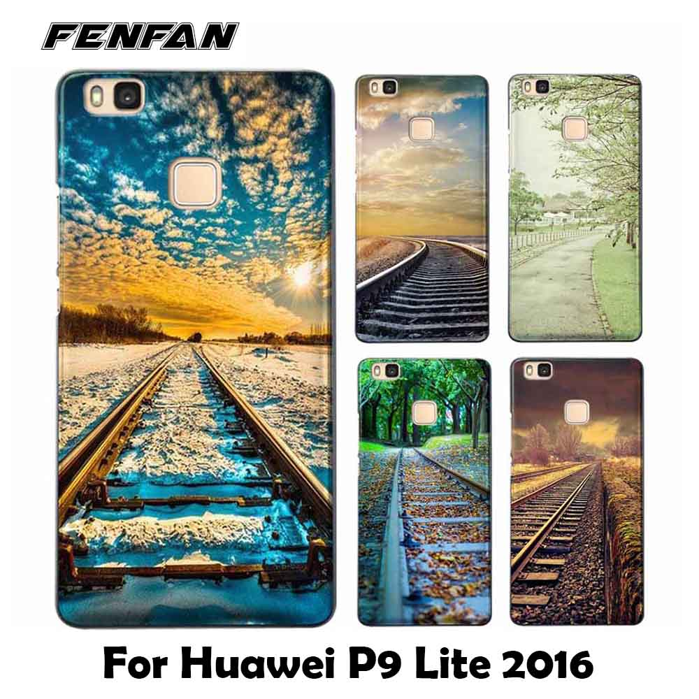 For coque Huawei P9 lite 2016 case Railway scene Soft TPU cover new arrivals for Huawei P9 lite 2016