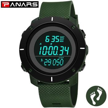 PANARS Men's Sport Watch Male Clock Wristwatches Mens Watches Top Brand Luxury LED Digital Waterproof Fitness Fashion Military