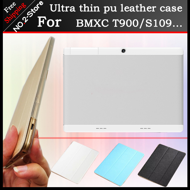все цены на Ultra thin 3 fold Folio PU stand cover case for BMXC T900 K107 S109 10.1inch tablet pc ,Multi-color optional+gift онлайн