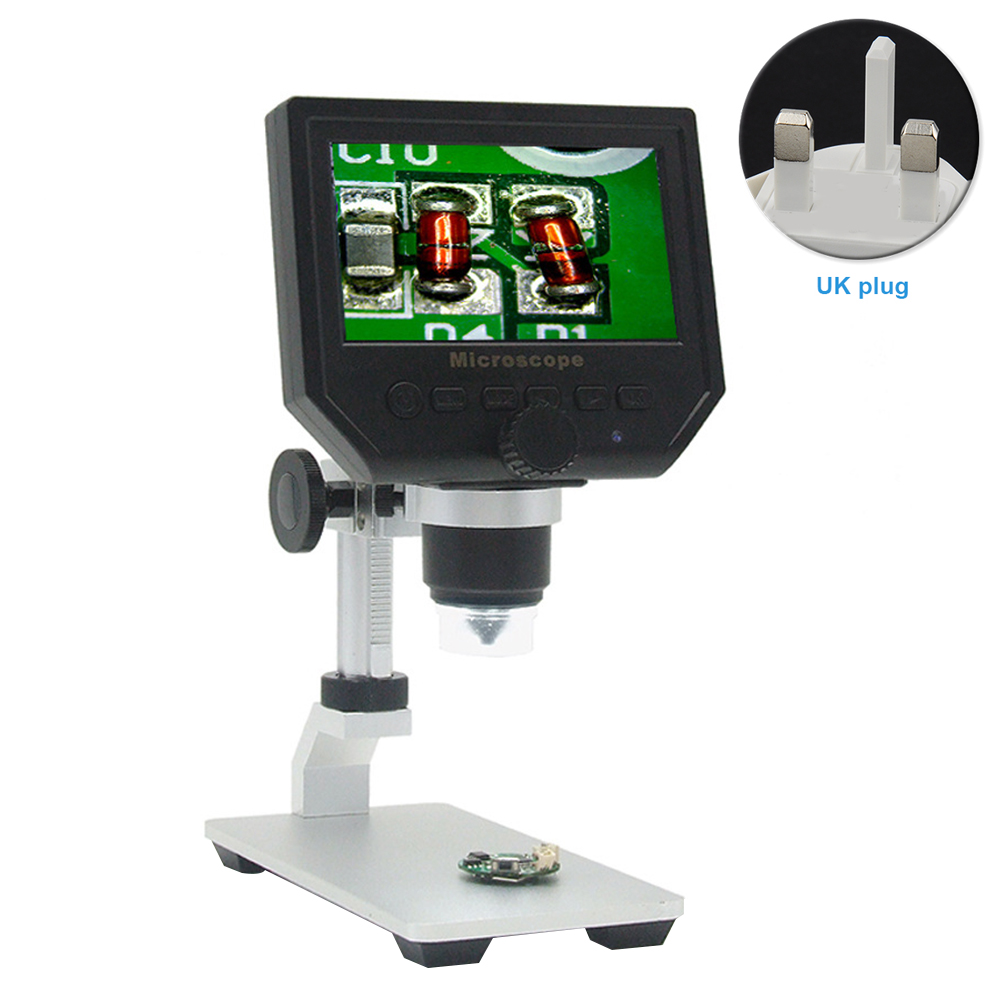 New LCD Digital Microscope 1 600X 3 6MP 4 3inch HD LCD Display Microscope Continuous Magnifier