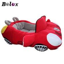 BOLUX Прохладный собака кровати дом Мода спортивный автомобиль форма мягкий материал прочный гнездо товары для собак кошек теплые подушки
