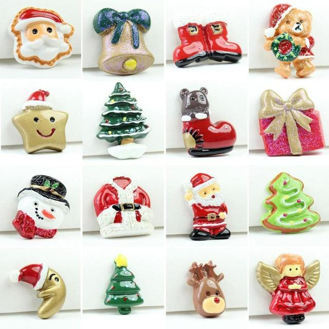 1PC Resin Santa Claus Reindeer Christmas Miniature Art Supply Decoration  Charm Crafts Ornaments Home Xmas Decor - 1PC Resin Santa Claus Reindeer Christmas Miniature Art Supply
