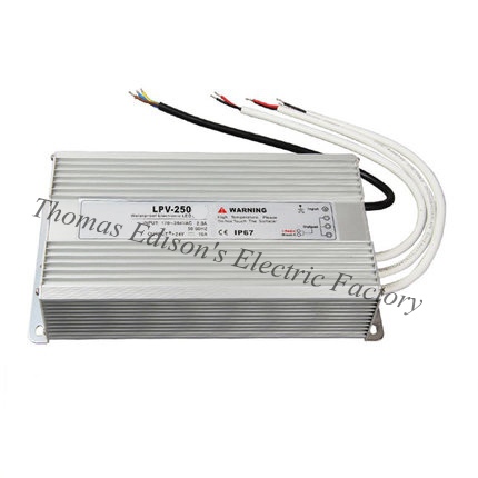 DIANQI waterproof power supply 220V AC TO 12V 24V 48V DC 250w power suply 250w 24V ac dc converter water proof галогенная лампа professional lt03035 ehj o 64655hlx 24v 250w g6 35 p 7748